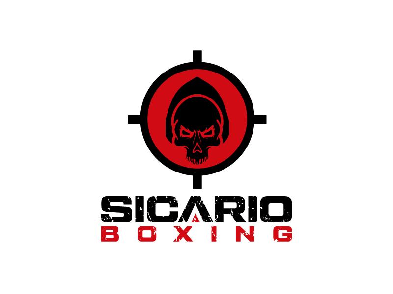 Sicario Boxing logo design by Erasedink