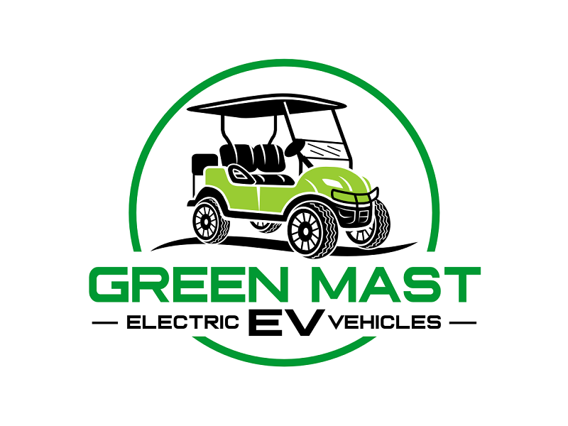 Green MAST EV logo design by haze