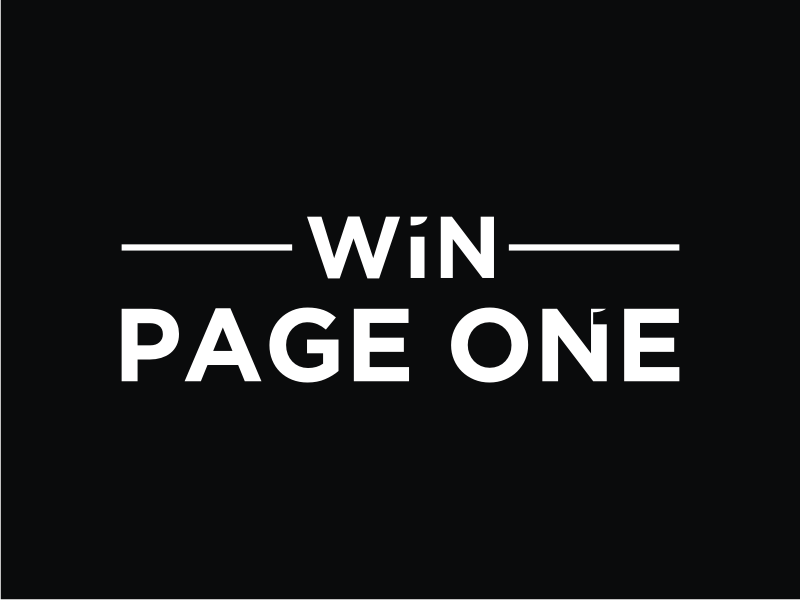 Win Page One logo design by mbamboex