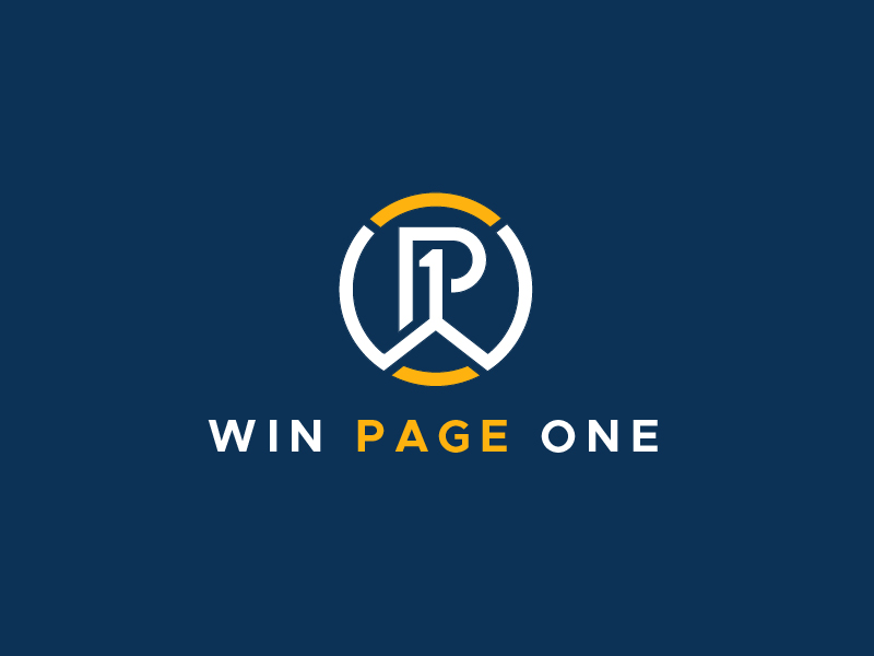 Win Page One logo design by usef44