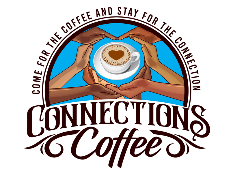 Connections Coffee logo design by DreamLogoDesign