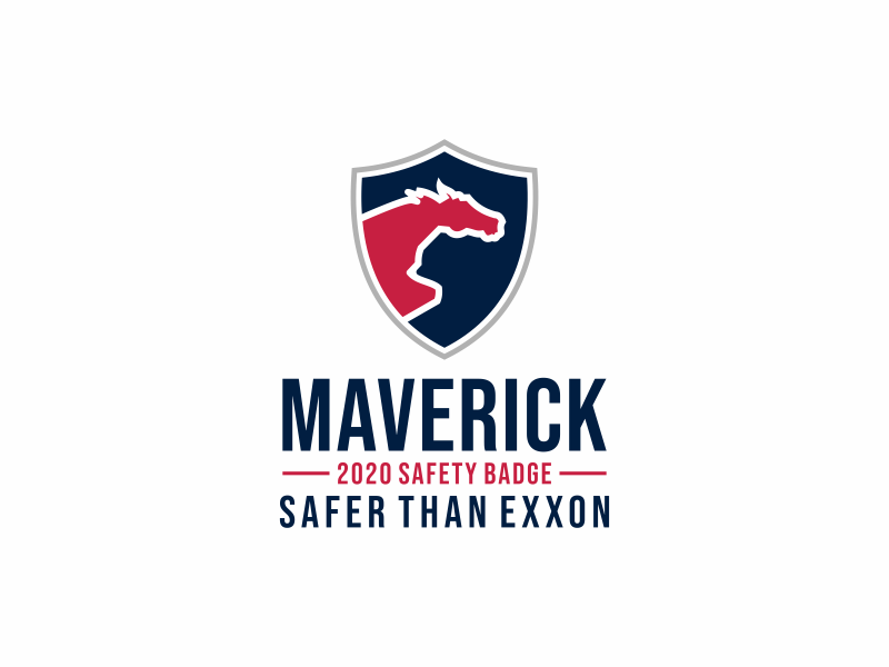 Maverick 2020 Safety Badge logo design by y7ce