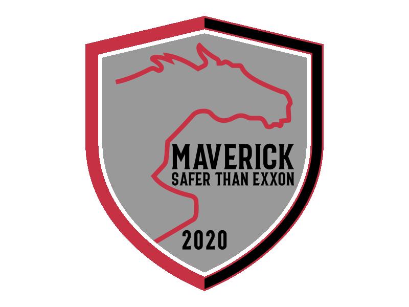 Maverick 2020 Safety Badge logo design by Kruger