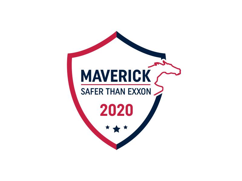 Maverick 2020 Safety Badge logo design by Kuromochi