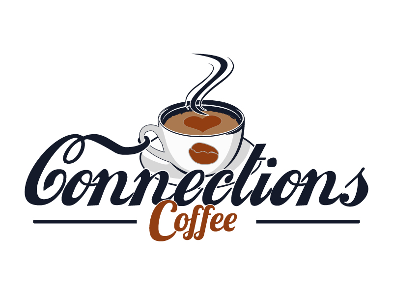Connections Coffee logo design by Suvendu
