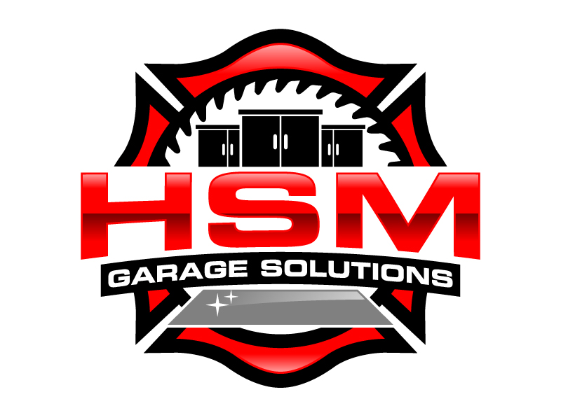 HSM Garage Solutions logo design by jaize