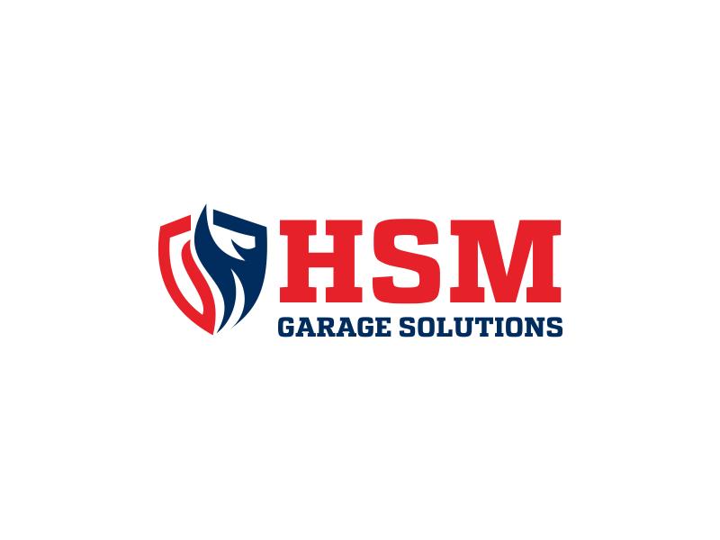 HSM Garage Solutions logo design by Greenlight