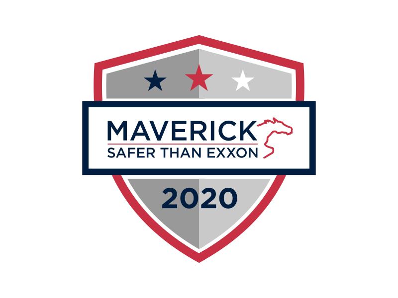 Maverick 2020 Safety Badge logo design by GassPoll
