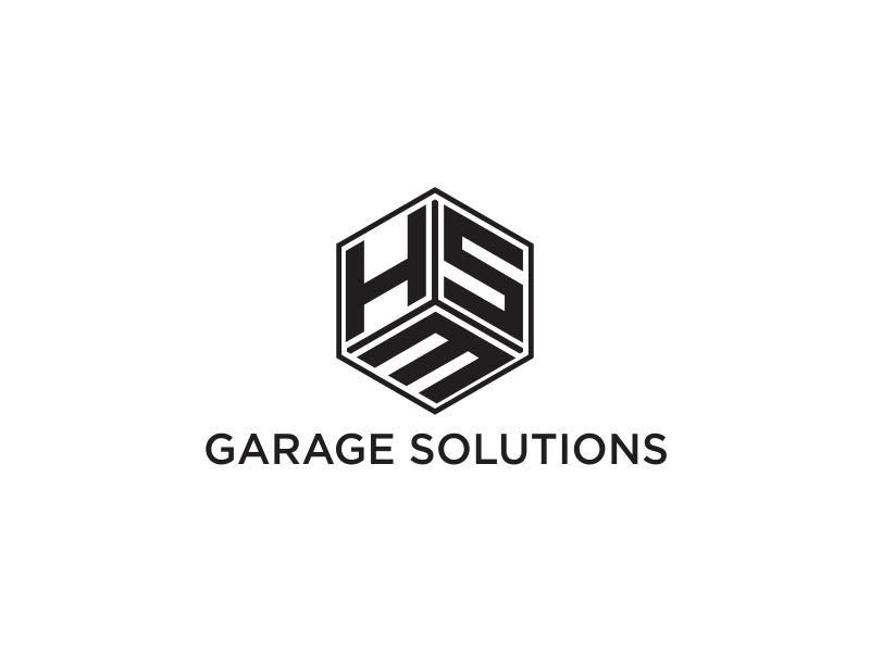 HSM Garage Solutions logo design by santrie