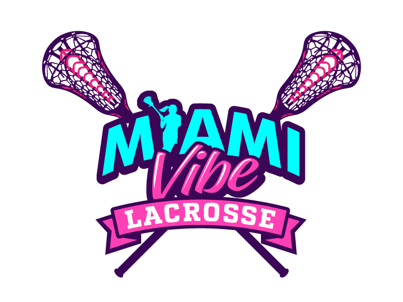 Miami Vibe Lacrosse Logo Design