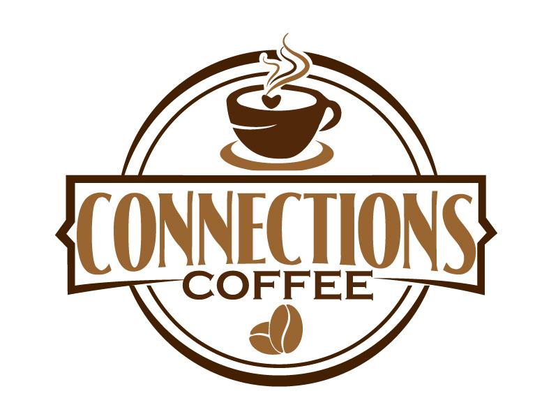 Connections Coffee logo design by ElonStark