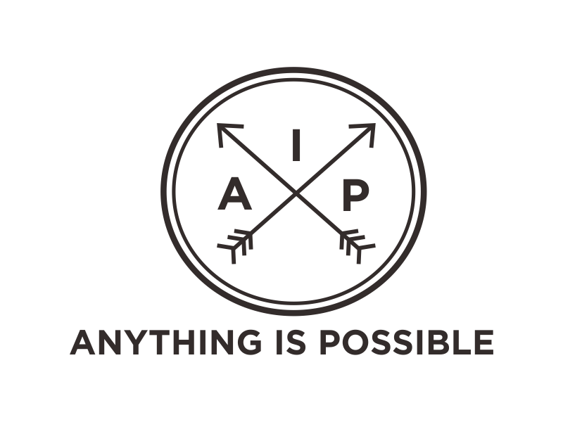 Anything Is Possible (AIP) logo design by Greenlight