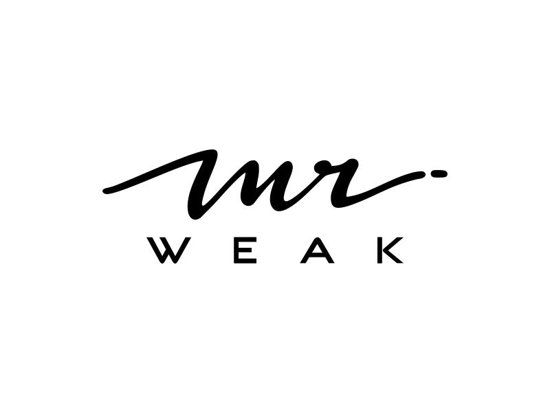 MR WEAK Logo Design