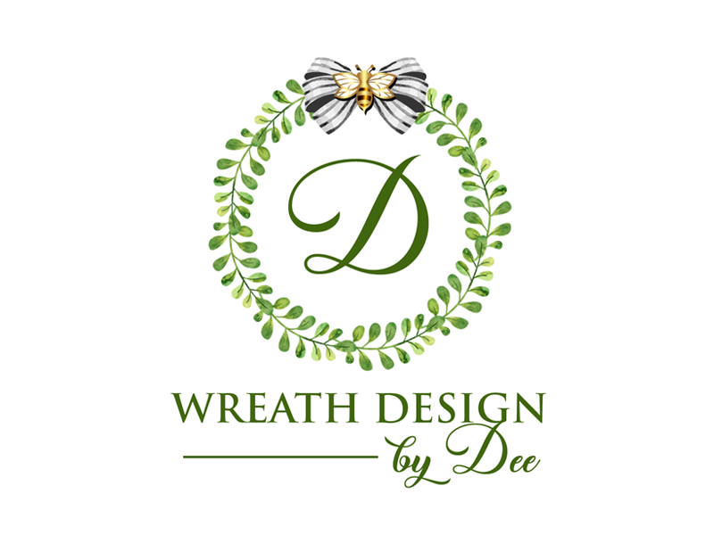 D (inside the wreath) (and under the wreath logo) Wreath Design by Dee Logo Design