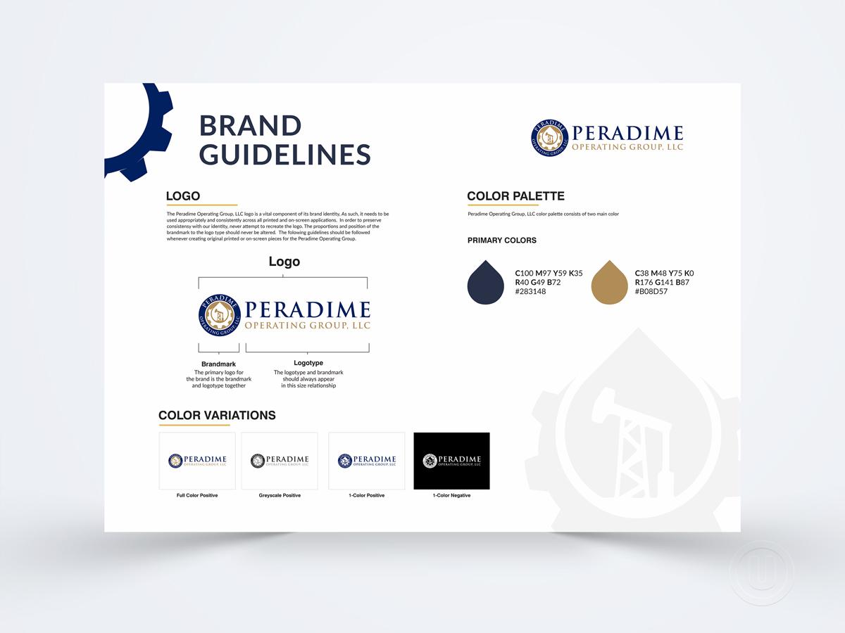 Peradime Operating Group, LLC logo design by Ulid