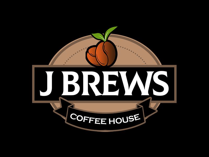 J Brews Coffee Shop logo design by kunejo