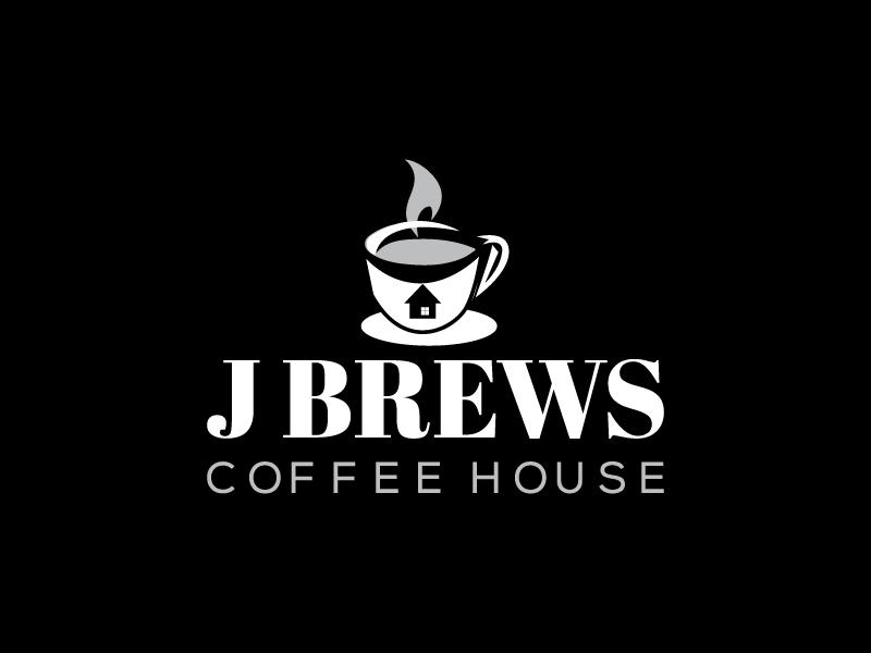 J Brews Coffee Shop logo design by Saraswati