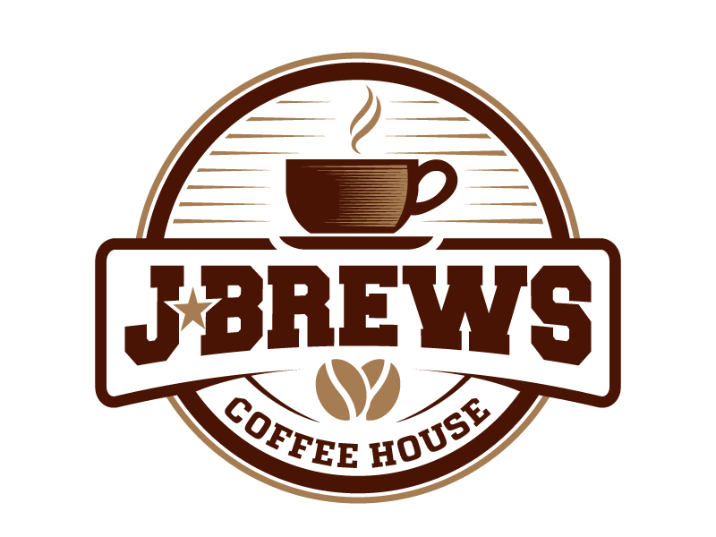 J Brews Coffee Shop logo design by jaize
