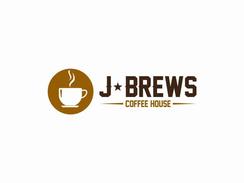 J Brews Coffee Shop logo design by Girly