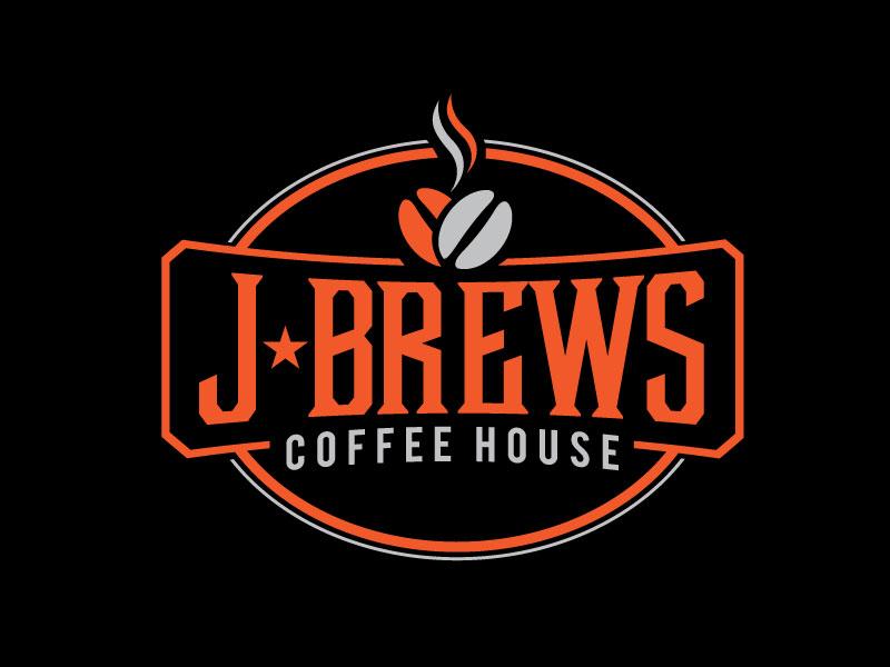 J Brews Coffee Shop logo design by REDCROW
