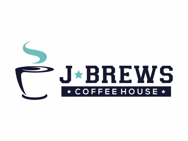 J Brews Coffee Shop logo design by Mardhi