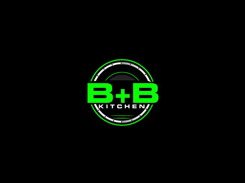 B+B Kitchen logo design by ElonStark