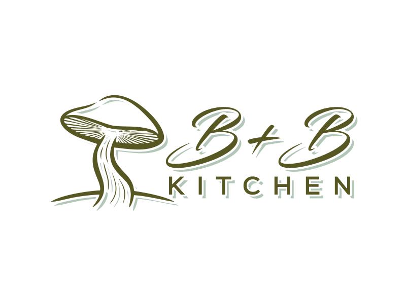 B+B Kitchen logo design by Gwerth