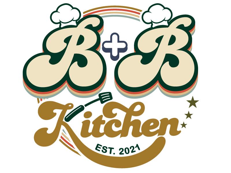 B+B Kitchen logo design by Suvendu