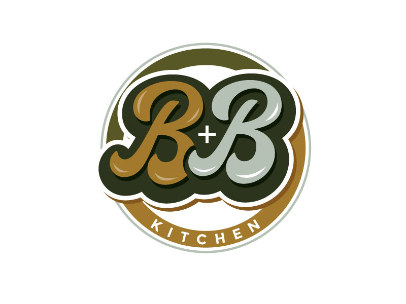 B+B Kitchen logo design by REDCROW