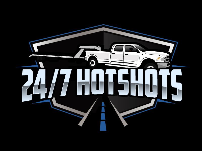 24/7 Hotshots logo design by ElonStark