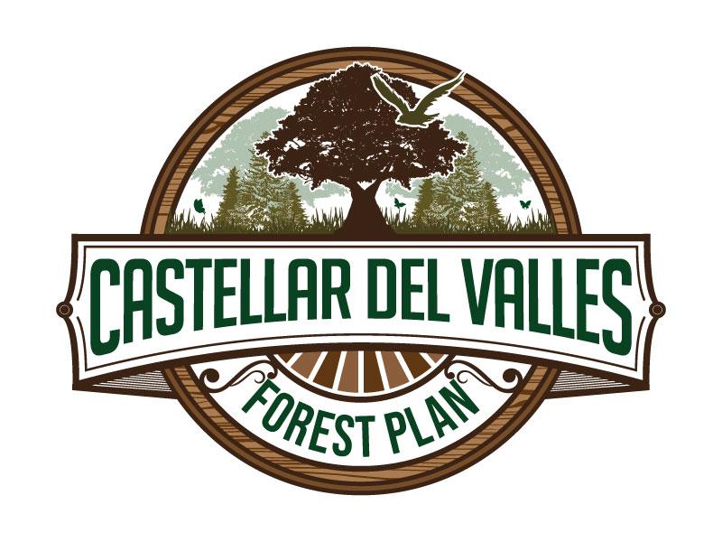 Castellar del VallesForest Plan logo design by Godvibes