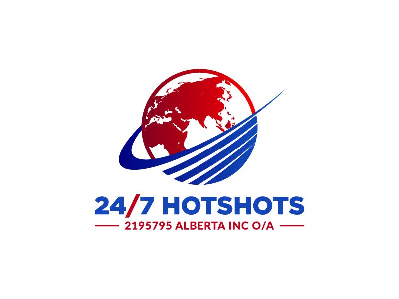 24/7 Hotshots logo design by pencilhand