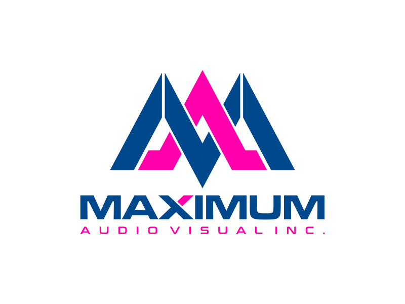 Maximum Audio Visual Inc. logo design by mutafailan
