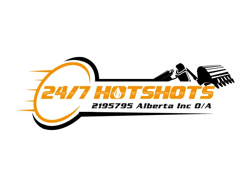 24/7 Hotshots logo design by Suvendu