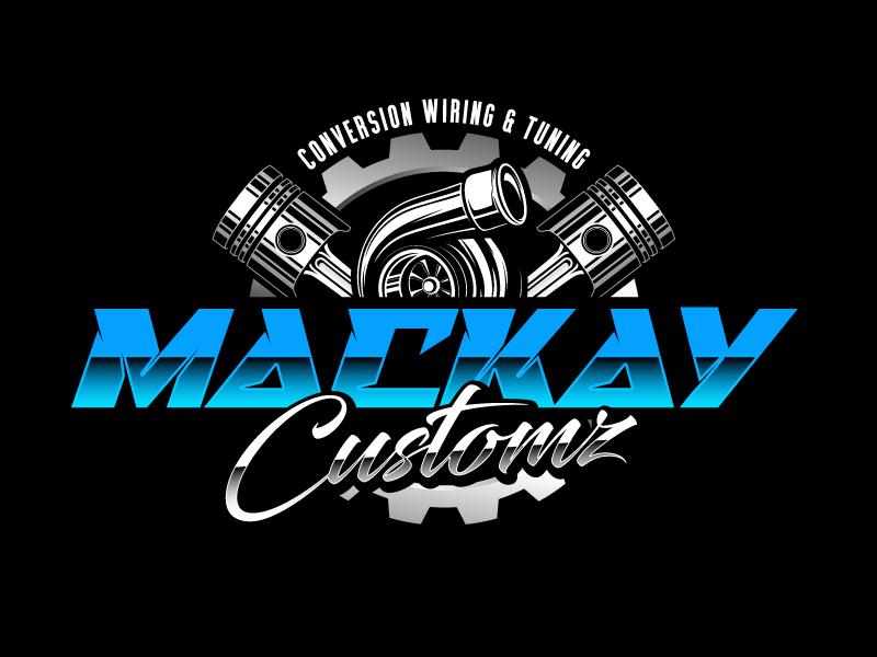 Mackay Customz logo design by daywalker