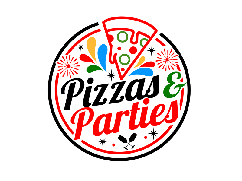 Pizzas and Parties Logo Design