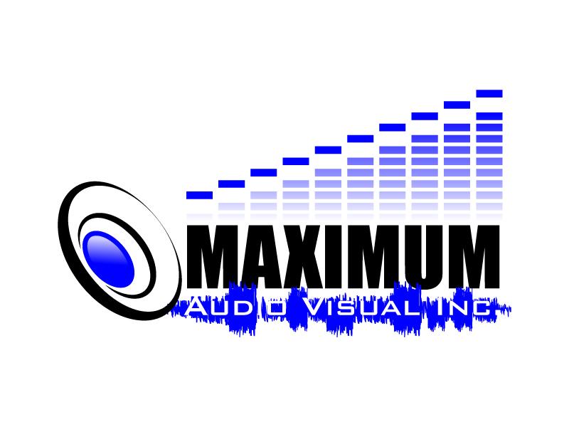 Maximum Audio Visual Inc. logo design by karjen