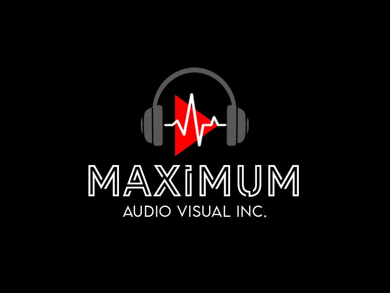 Maximum Audio Visual Inc. logo design by kunejo