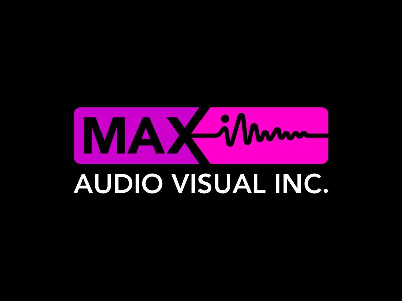 Maximum Audio Visual Inc. logo design by zonpipo1