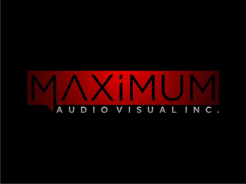 Maximum Audio Visual Inc. logo design by Arto moro