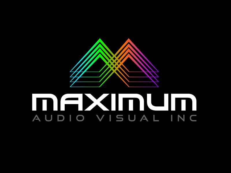 Maximum Audio Visual Inc. logo design by Marianne