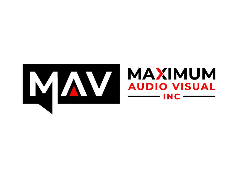 Maximum Audio Visual Inc. logo design by DreamCather