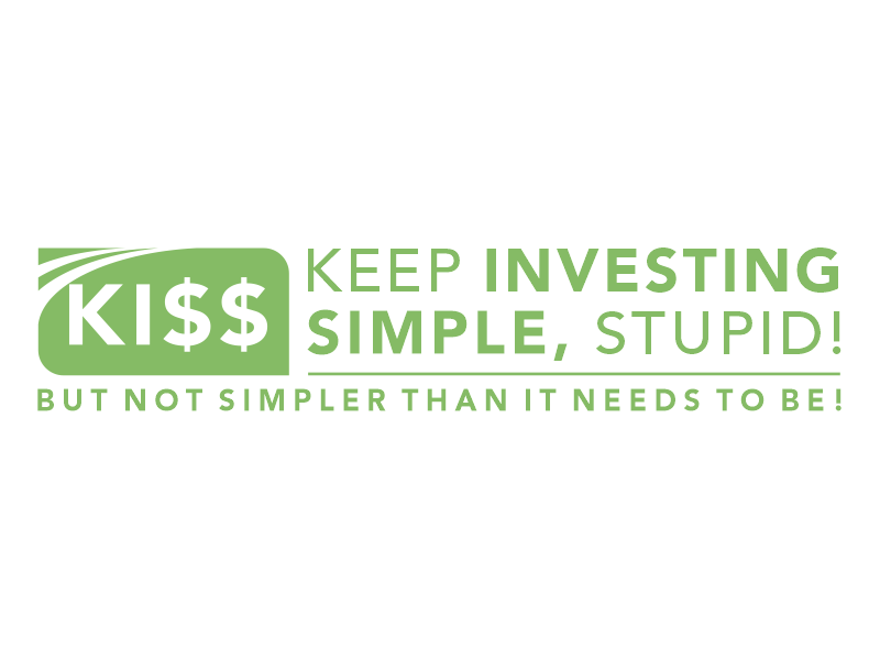 "Keep Investing Simple, Stupid! (tagline - ""But not simpler than it needs to be!) Logo Design"