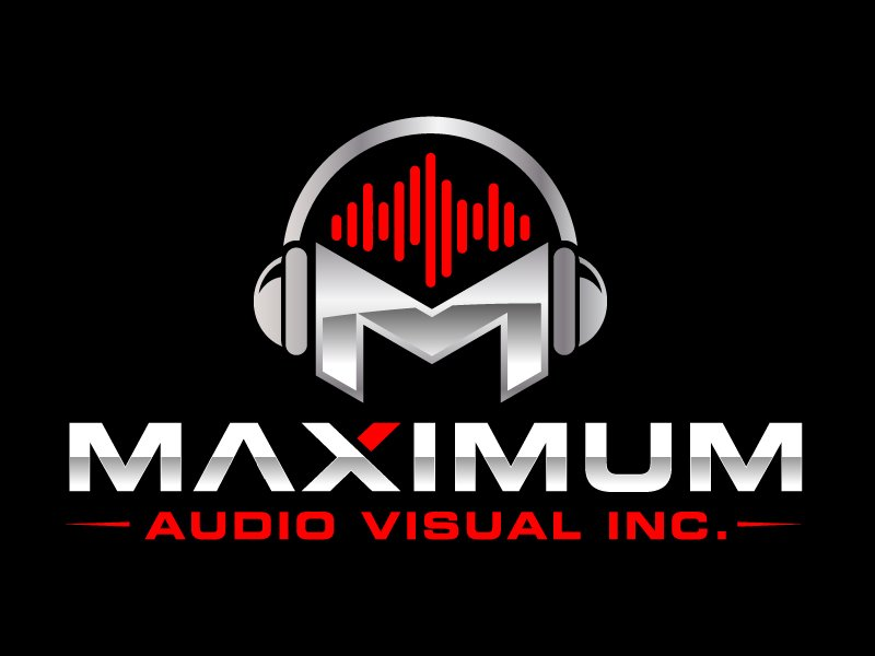 Maximum Audio Visual Inc. logo design by jaize