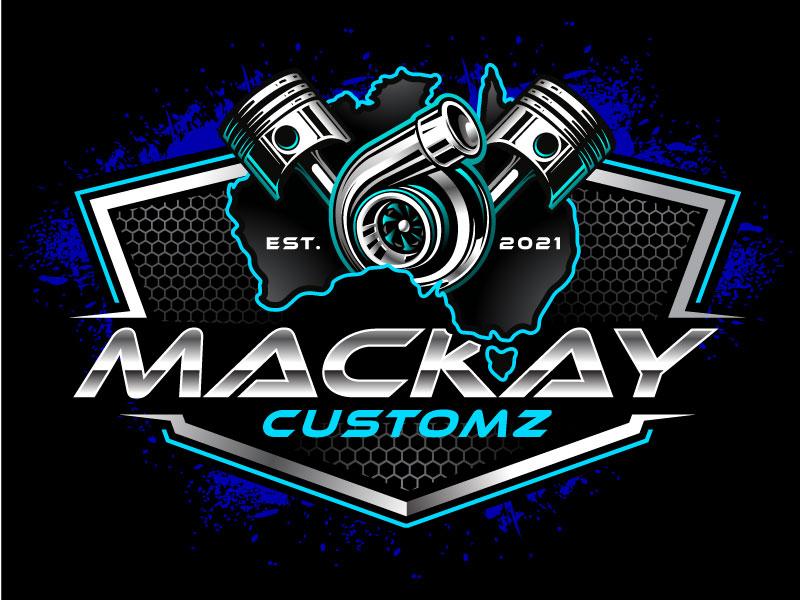 Mackay Customz logo design by REDCROW