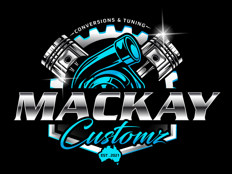 Mackay Customz logo design by LucidSketch