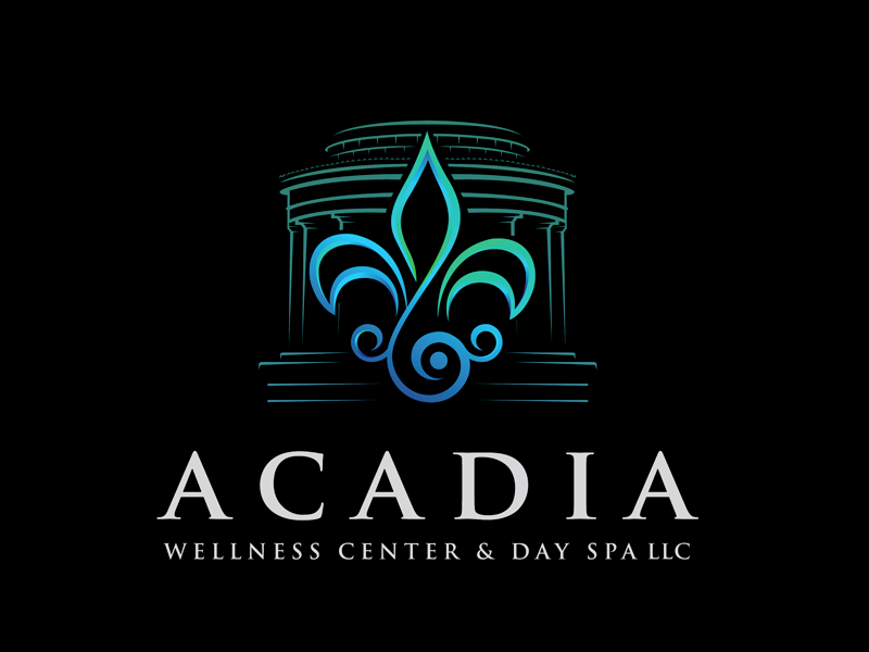 Acadia Wellness Center & Day Spa Logo Design