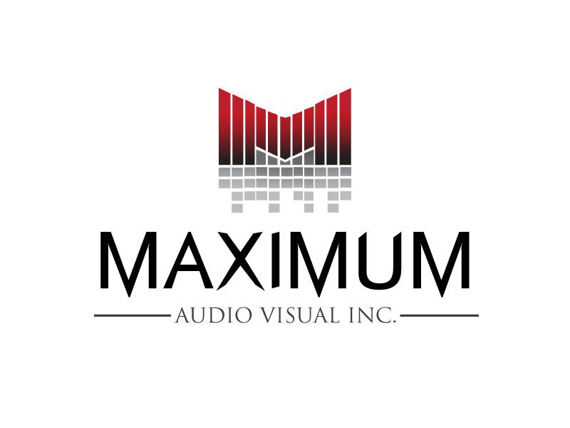 Maximum Audio Visual Inc. logo design by xien