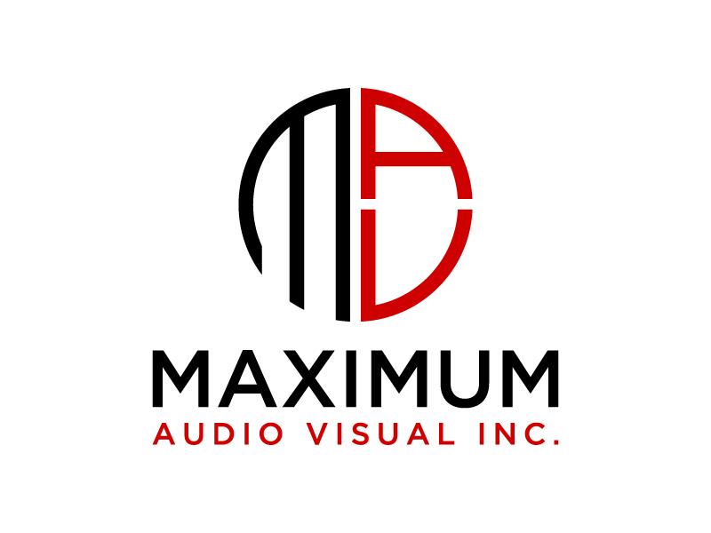 Maximum Audio Visual Inc. logo design by denfransko