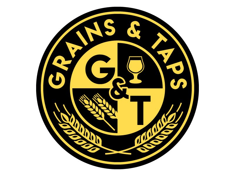 Grains & Taps Logo Design